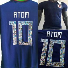 00c88b511 Thailand 2018 CARTOON Number Japan world cup home ATOM #10 Soccer Jerseys  2019 Tsubasa KAGAWA OKAZAKI NAGATOMO KAMAMOTO Football Shirts