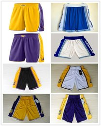 767335bf7 2018 HOT SALE New Season Authentic LAK Running Basketball Jersey Shorts Los  Angeles state Men and youth Lakers Short Jerseys