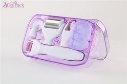 $enCountryForm.capitalKeyWord Australia - 6 in 1 Derma Roller Set Microneedle Skin Care Face Brush & Stamp w Travel Case