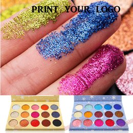 Wholesale snowflake no logo eye shadow palette color sparkle two package choice popupar whole seller item accept your logo print