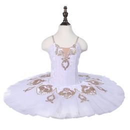 $enCountryForm.capitalKeyWord UK - Adult White Gold Pre-professional Ballet Tutu Girls Ballet Stage Dance Pancake Tutu Skirt Women Performance Ballet Stage Costume Custome Kid
