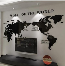 Shop wall maps for office uk wall maps for office free delivery to free shippingdiy 3d acrylic wall sticker wallpaper of world map for office living room decor gumiabroncs Image collections