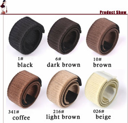 Discount hair extensions bands - Wholesale New Fake Hair Hairagami Bun Extension Updo Synthetic Hair Band Accessories Chignon Hairpiece Headwear Hairpin