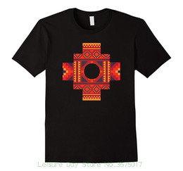 Textile Slim Fit UK - T-shirts 2018 Brand Clothes Slim Fit Printing Inca Cross Symbol Of Love , Truth , Connection T-shirt Textile