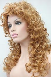 Loose Curls Long Hair Australia - Fashion women's wigs loose curls 60cm long synthetic hair wig color 27C