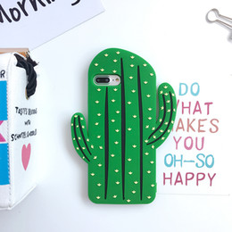 $enCountryForm.capitalKeyWord Australia - Kawaii 3D Cute Cartoon Cactus Plant Soft Rubber Silicone Character Shockproof Drop Protection Skin Case For iPhone 5S 6 7 8 Plus X XR XS Max