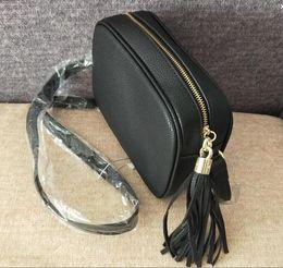 Small pu Shoulder bag online shopping - Women Fashion Bag Famous Brand Designer Shoulder Bag Tassel SOHO Bags Ladies Tassel Litchi Profile Women Messenger Bag