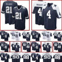 e6a87efe34e #4 Dak Prescott Dallas Cowboys 21 Ezekiel Elliott Jersey Men's 82 Jason  Witte 11 Cole Beasley 90 DeMarcus Lawrence Football Jerseys · Find Similar.  NZ$24.45 ...