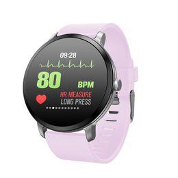 $enCountryForm.capitalKeyWord NZ - Casual Gray Fabric Smart Band Blood Pressure Heart Rate Monitor Smart Watch New Sports Waterproof Wristwatch for Women Men