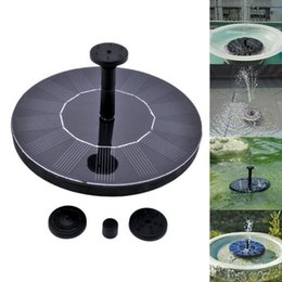 Discount water fountains for outdoors - Outdoor Solar Powered Water Fountain Pump Floating Outdoor Bird Bath For Bath Garden Pond Watering Kit OOA5133