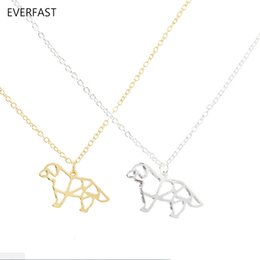 $enCountryForm.capitalKeyWord UK - Everfast New Fashion Cute French Bulldog Origami Puppy Dog Pendant Necklace Long Chain Necklace Women Charm Bijoux Jewelry EFN031-A