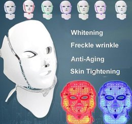 $enCountryForm.capitalKeyWord NZ - Beauty Equipment PTD Photon LED Face Neck Mask 7 Color LED Treatment Skin Whitening Firming Facial Beauty Mask Electric Anti-Aging Mask A575