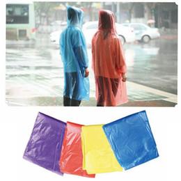 Одноразовые плащ одноразовые PE пончо красочные дождевики, если дождь чрезвычайных водонепроницаемый капюшон для открытый путешествия кемпинг DIR01