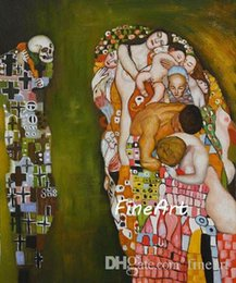 $enCountryForm.capitalKeyWord NZ - good quality handmade painting art oil painting reproduction death and life famous artist gustave klimt canvas wall art decoration home