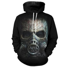 China Cloudstyle 2018 Fall Men Hoodies 3D Gas mask Print Hooded Skull Pullovers Hipster Harajuku Tracksuit Male Mens Hoody Sweatshirts cheap skull tracksuits suppliers