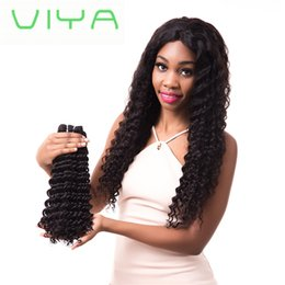 Discount remy hair extensions closure unprocessed - Top grade 100% Unprocessed Malaysian virgin hair deep wave hair bundles with 4*4 lace closure can be dyed and bleached h