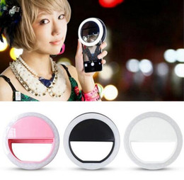 Discount night photography camera Selfie LED Ring Flash Light Camera Fill Light Photography Spotlight Flash Night Shot Light for IPhone Samsung Adjustable