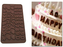Chocolate Mould Letters Australia - Safety Letter Number Heart Shape Baking Moulds Chocolate Making Model Baking Tools Valentine ' ;S Day Confession Birthday Cake Making