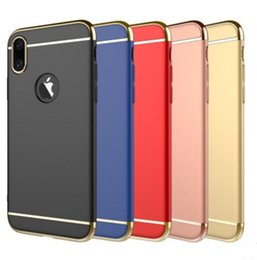 bags for dirt NZ - 2018 New Design mobile phone cases bags Plating metal finish PC mobile protecive cases for Iphone X 7 8 plus