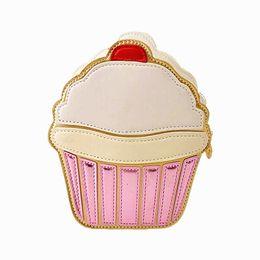 single cupcake bags 2019 - TEXU Ice cream Cupcake Mini Women Bags PU Leather Small Chain Clutch Crossbody Girl Shoulder Messenger bag cheap single