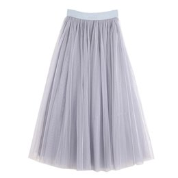2018 High Waist Women Long Summer Skirts Womens Tutu Skirt Vintage Saia  Fashion Mesh Women Maxi Skirt Jupe Femme Saias Faldas e99e7cc45013