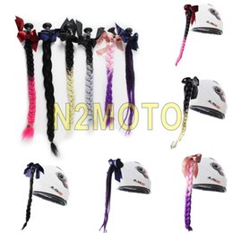 $enCountryForm.capitalKeyWord Australia - Motorcycle Helmet Ponytail Hair Gradient Ramp Twist Braids Casco Decoration Women Lady Punk Style Pig Tail Hair