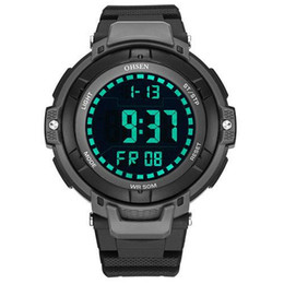 ohsen sports watches UK - OHSEN 1709 Men's Sport Watch Military Black Electronic Watch Man Quartz Digital Led Wristwatches Clock Male Casual Watches