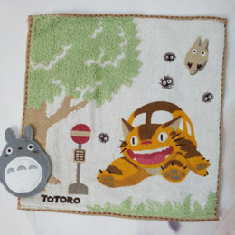 Compressed Sheets NZ - 2018 Hot sale 100% Cotton Luxury My Neighbour Totoro Cat Bus Face Hand Towel Sheet Gift