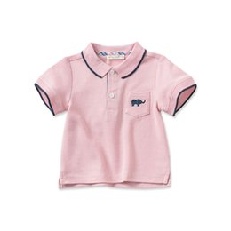 baby boy polo Australia - Cotton Dave Bella Summer Baby Boys Cotton Polo Shirts Infant Clothes Toddle Polo Kids Tops Children Cotton Polo Shirt