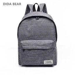 Brand designer Canvas Men Women Backpacks Large School Bags For Teenager  Boy Girls Travel Laptop Backbag Mochila Rucksack Grey 62c611560d