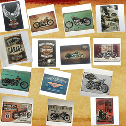 Discount retro home bars - Different designs retro Motor harley Davidson Cycles Vintage tin sign home Bar Pub Hotel Restaurant Coffee Shop home Dec