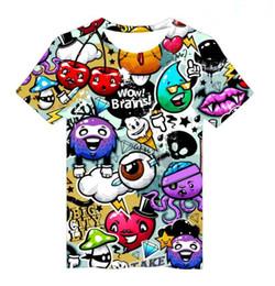 4c20e7389141c 3D printing Skull paint graffiti t-shirt Men Women Short Sleeve Summer  round neck plus size Couple outfit female Tops ladies Tees