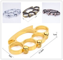 Women Knuckle Dusters NZ - sports outdoors women men skull dragon boxing finger 4 color Protective Gear ring tiger BRASS KNUCKLE DUSTER Quality is very good hand tool