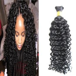 "Brazilian Kinky Curly Braiding Hair UK - Mongolian kinky curly bulk hair 100g 1pcs human hair bulk for braiding bulk afro kinky curly braiding hair 18""20""22""24"" 26"""