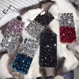 iphone rhinestones phone cases NZ - For Galaxy S9 Plus Newest Bling Cases With Rhinestones Mobile Phone Case Back Cover For iPhone 6 7 8 Plus X Galaxy Note8 S8 Plus