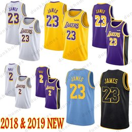 men balls 2018 - 23 LeBron James Lakers jersey 2018-2019 Los Angeles Lakers James Basketball Jerseys 2 Lonzo Ball 0 Kyle Kuzma Mens Youth
