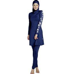 095ece7e59 Plus 5XL 2018 New Burkinis Muslim Swimsuit Modest Clothing Islamic 3 Pieces  Separated Women Wear Long muslimah Swimwear Hijab