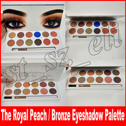 China 12 Color The Royal Peach Palette Pressed Eyeshadow palette Powder Jenner Cosmetics The bronze Eye shadow Palette with brush suppliers