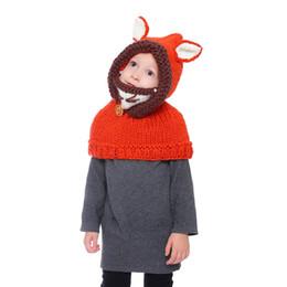 $enCountryForm.capitalKeyWord NZ - Winter Kids Warm Owl Cute Fox Design Hat Knitted Hood Scarf Beanies czapka zimowa gorros invierno Warm Bonnet Caps Winter NEW
