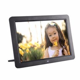 "mp3 photo player 2020 - 12"" Wide Screen HD LED Digital Photo Frame 1280 * 800 Electronic Picture Frame MP3 MP4 Player Clock with stereo spe"