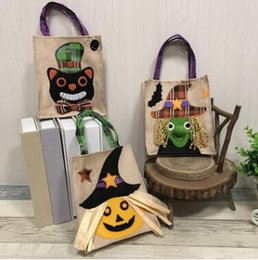 $enCountryForm.capitalKeyWord NZ - Halloween Ghost Pumpkin Pattern Candy Bags Handbag Gift Goody Bags Party Favors Plaid Bags for Kids Halloween Party Decorations