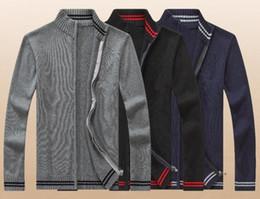 $enCountryForm.capitalKeyWord NZ - Solid color Zipper Cardigan High collar Polo cotton Sweater Sweatshirt Knit shirt Fashion Leisure moletom masculino Work Formal wear WNS801