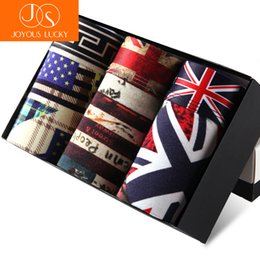 $enCountryForm.capitalKeyWord Australia - JOYOUS LUCKY Real Character New Fashion British Flag Men's Ice Underwear boxers men Sexy Modal Boxer Shorts Summer Pants Belts