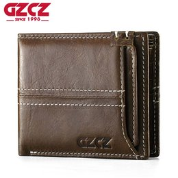 Leather waLet man online shopping - GZCZ Men Wallet Coin Purse Small Vintage Genuine Leather Vallet Mini Money Bag Portomonee Casual Male Walet Bifold