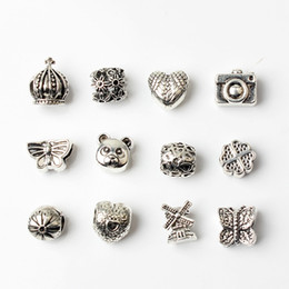 Wholesale 12PCS Mixed Style Wholesale Beads Charms For Pandora DIY Jewelry European Bracelets Bangles Women Girls Best Gifts