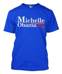 $enCountryForm.capitalKeyWord Australia - 2018 New Fashion Man Michelle Obama For President 2020 Men's T-shirt Print T shirts O neck Short Sleeves