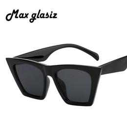4307220fccc Max Glasiz Hot Sales Cat Eye Fashion Women Sunglasses Brand Designer Cool  Stylish Black Frame Sun Glasses UV400 Women Eyewear