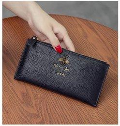 500b45ad68a Cuero genuino súper fino con cremallera carteras de diseñador mujer moda  cuero de vaca cero monederos dama popular teléfono embragues negro    púrpura   gris ...
