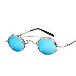 1cf064216 Prince round mirrored sunglasses online shopping - New Arrival Dual use Vintage  Punk Style Glasses Multicolor