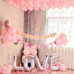 $enCountryForm.capitalKeyWord NZ - Gold Silver LOVE Letter Balloon Set Decorative Aluminum Balloons Propose Marriage Foil Balloons Wedding Balloon Birthday Party Decorations